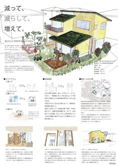 受賞作品 - 木の家設計グランプリ Concept Board Architecture, Architecture Design, Co Housing, Presentation Skills, Layout, Inspiration, Blue Prints, Japanese Architecture, Biblical Inspiration