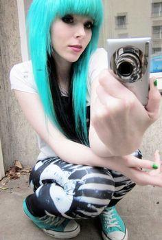 Grey Hair Blue Eye | ... german germany kawai pastel goth rock punk hipster blogger blue eye
