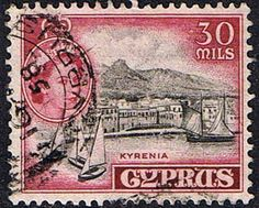 Stamps Cyprus 1955 New Currency SG 180 Fine Used Scott 175 Other Cyprus Stamps HERE