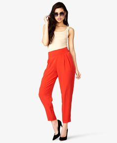 Crepe Woven Trousers   FOREVER21 - 2026164221