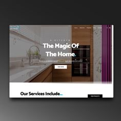 Brilliant By Design wanted to showcase their portfolio and services they offer. You Are Perfect, Kitchen Interior, Wordpress, Website, Home, Design, Ad Home, Homes