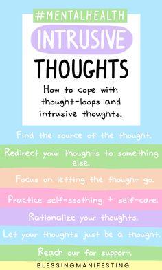 How to handle #intrusivethoughts #mentalhealth #mentalhealthtips #anxiety #OCD