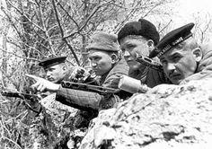 Russian soldiers and marines near Sebastopol