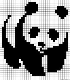 Ponto cruz urso panda
