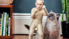 Des griffoirs à chats à l'effigie de Vladimir Poutine et de Kim Jong-Un