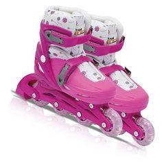 Patins infantis para meninos e meninas.Curta as férias de rodinhas. Para conhecer outros modelos visiste nossa loja online www.quickcompras.com.br