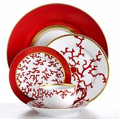 RP: Raynaud Cristobal 5-piece Red Chinese Place Setting - bloomingdales.com