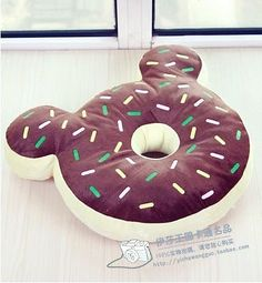 New Japan Sweet chocolate donut cushion Pillow mickey hold chocolate temptation