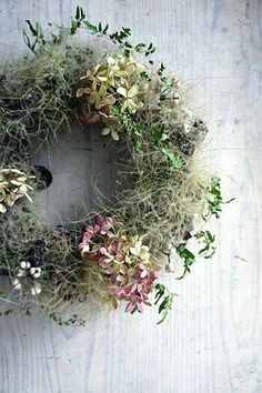 Dried Flower Wreaths, Wreaths And Garlands, Door Wreaths, Dried Flowers, Hydrangea Wreath, Autumn Wreaths, Holiday Wreaths, Deco Floral, How To Make Wreaths