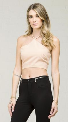 ANGL | Y-Strap Tie Back Crop Top