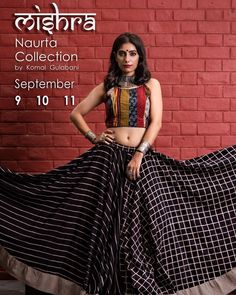 Choli dress - Komal Gulabani's most awaited Navratri Collection Mishra is finally out! Mishra, the concoction of beautiful patterns, colors, cloth, and… Garba Dress, Navratri Dress, Lehnga Dress, Chaniya Choli For Navratri, Lehenga Dupatta, Churidar, Anarkali, Choli Blouse Design, Choli Designs