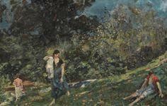 Le levandaie a Mondonico - Emilio Gola 1916