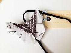 Large Fabric Origami Butterfly Headband - Wedding Hair - Wedding Accessory