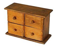 Boîte à bijoux bois, orange - L27