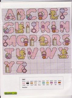 Thrilling Designing Your Own Cross Stitch Embroidery Patterns Ideas. Exhilarating Designing Your Own Cross Stitch Embroidery Patterns Ideas. Cross Stitch Letters, Cross Stitch Baby, Cross Stitch Charts, Cross Stitch Designs, Diy Embroidery, Cross Stitch Embroidery, Embroidery Patterns, Stitch Patterns, Baby Motiv