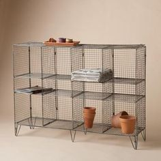 Metal Wire Shelving Units: My thoughts on this wire metal shelving unit is similar to Brandi's. However this unit would do well in a laundry room...