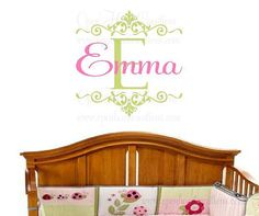 Hey, I found this really awesome Etsy listing at https://www.etsy.com/listing/79562950/initial-and-name-wall-decal-for-girl-or