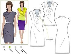 Style Arc Sewing Pattern - Franki Dress or Top (Sizes 04-16) - Click for Other Sizes Available » http://lnreviews.com/Style-Arc-Sewing-Pattern-Available