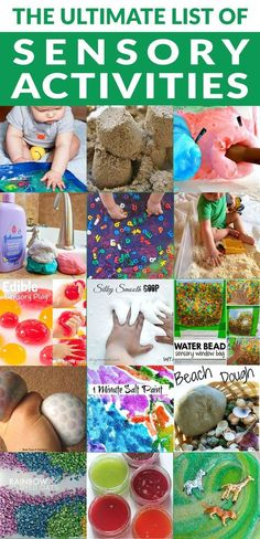 The Ultimate List of Sensory Activities for Kids #kids #toddlers #education