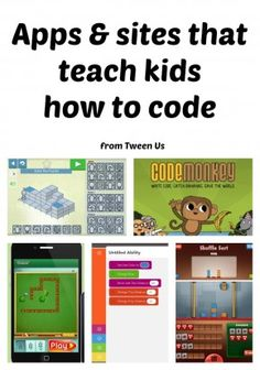 6 great coding websites and apps for tweens and teens for Hour of Code. They work in the classroom or at home, and can get kids with no experience starting to learn how to code. Great for Computer Science Education Week or any time of year Learning Apps, Always Learning, Kids Learning, Summer Programs For Kids, Classroom Websites, Coding Class, Coding For Kids, Coding Websites For Kids, Apps For Teens