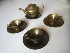 Antike Vintage Orient Schmiede Tee Service Set Tea Wölfe Mohn Opium Hand Arbeit ** vkeki123@gmail.com ** please order here ** vkeki123@gmail.com ** Tee Set, Tea Service, Poppy, Oriental, Candle Holders, Art Deco, Ebay, Vintage, Antiquities