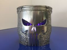 Hand Carved Motorcycle Piston SKULL for Display / Decor,ManCave,THE PUNISHER