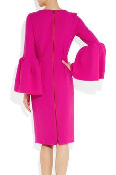Roksanda Ilincic Margot lantern-sleeve wool-crepe dress NET-A-PORTER.COM