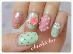Vintage Cupcakes and Quilted Nails | chichicho~ nail art addicts
