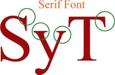 Serif font is a font which has flicks that make up each character.