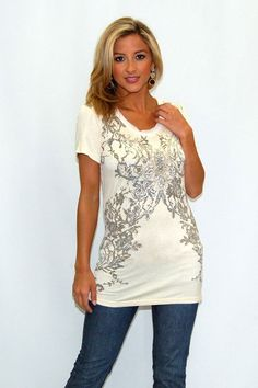 Loving this beautifully designed top found only at Beyond the Door! @beyondthedoor11
