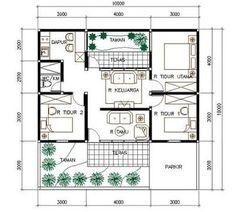 Hasil gambar untuk desain rumah 1 lantai 3 kamar