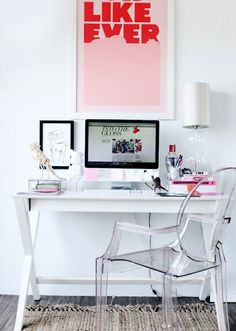 Suzie: Peep My Style - Chic white office design with white campaign desk, For Like Ever Art ...