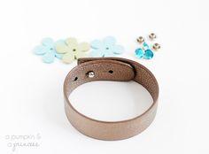 How to make rhinestone leather bracelets - A Pumpkin And A Princess