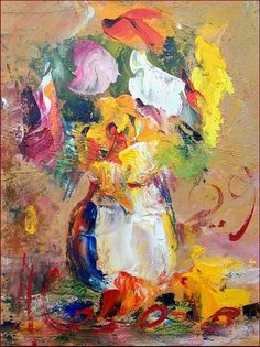 *** TRY SOMETHING SIMILAR BUT IN M.M. FABRICSFlowers abstract Paolo Abrans