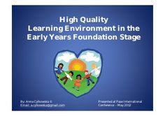 High Quality Learning Environment in the EYFS