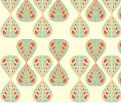 coral_bells_seafoam fabric by holli_zollinger on Spoonflower - custom fabric