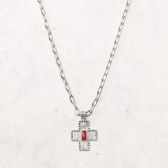 Love the Sara Blaine for Willow House harmony cross necklace, sterling silver with red jade.  Details on the piece are awesome!  {pic doesn't do it justice!}