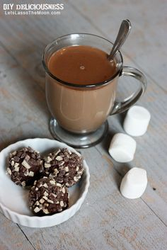 Plopped in a mug of milk and heated, this makes for some seriously delicious hot cocoa. *So trying this...