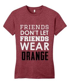 070a6ef196 Line Liam Heather Red  Don t Let Friends Wear Orange  Tee - Plus