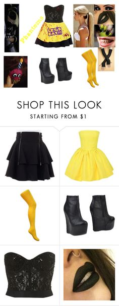"""""""Phantom Chica- FNAF 3"""" by nicoleoliviaberry ❤ liked on Polyvore featuring Martin Grant, CO, Jeffrey Campbell and Freddy"""