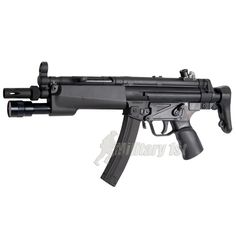 Classic Army B MP5 A3. This Proline MP5 A3 Airsoft gun is fully licensed by B Being a replica of the earlier A3 model it features right hand operated safety, collapsible stock and a hand-guard with integrated flashlight that is operated remotely by pressure pad. The MP5 series Airsoft guns are extremely versatile and suited for all sorts of Airsoft games. £249.99