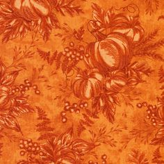 Use this harvest bounty cotton fabric as a sophisticated addition to your home decor this season.