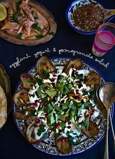 Scrumptious Sides: Eggplant With Pomegranate and Yogurt
