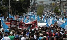 Thousands of Guatemalans have demonstrated in Ciudad de Guatemala, demanding the resignation of President Otto Perez Molina over a corruption scandal. Businesses,