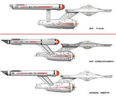 ST Discovery: Constitution Class and poss. Refit by CommodoreMJFire on DeviantArt Star Trek 2009, Star Trek Tv, Star Wars, Star Trek Ships, Star Trek Ring, Star Trek Wallpaper, Star Trek Models, Stark Trek, Starfleet Ships