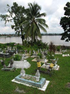 Cementerio musulman en Cuching, Borneo