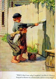 Norman Rockwell images Tom Sawyer