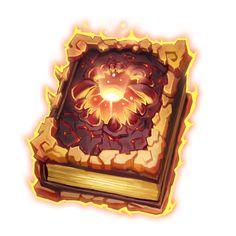 神器图标 Game Icon, Magic Book, Environment Concept Art, Fantasy Books, Game Art, Lava, 2d, Slot, Objects