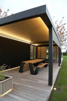 Modern Pool House, Modern Gazebo, Modern Pools, Modern Patio, Outdoor Pavilion, Outdoor Pergola, Outdoor Garden Rooms, Backyard Patio Designs, Outdoor Kitchen Design