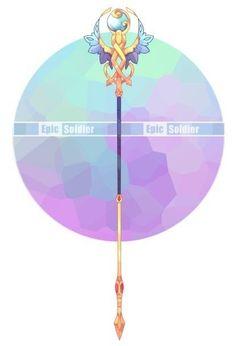 Staff Magic, Arte Fashion, Armas Ninja, Arte Do Kawaii, Sword Design, Anime Weapons, Weapon Concept Art, Image Manga, Magic Art